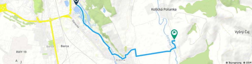 Brief bike tour from Košice to Vyšná Hutka