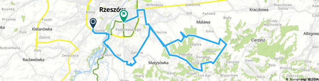 Lengthy bike tour through Rzeszów