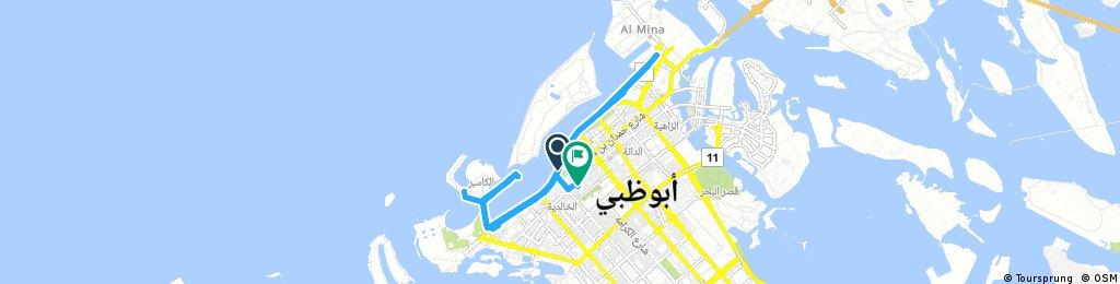 ride through Abu Dhabi.korniche