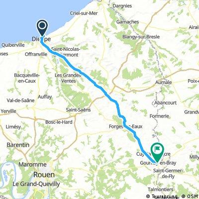 Dieppe to Gournay en bray