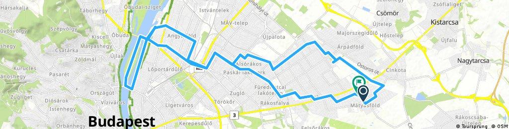 Lengthy bike tour through Budapest