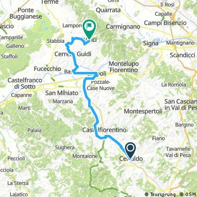 Escursione 3 Certaldo - Vinci km 50