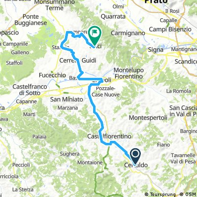 Escursione 4 Certaldo - Vinci km 57,7