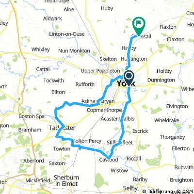 York to Tadcaster to Strensall