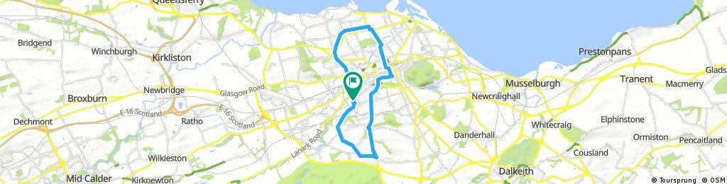 ride through City of Edinburgh