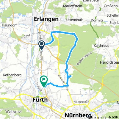 Eltersdorf - Tennenloher Forst - Ronhof