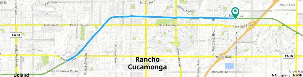 bike tour through Rancho Cucamonga