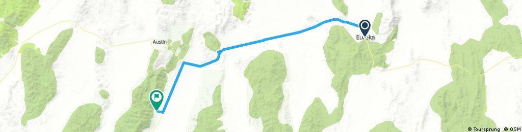Eureka to Kingston,  Nevada
