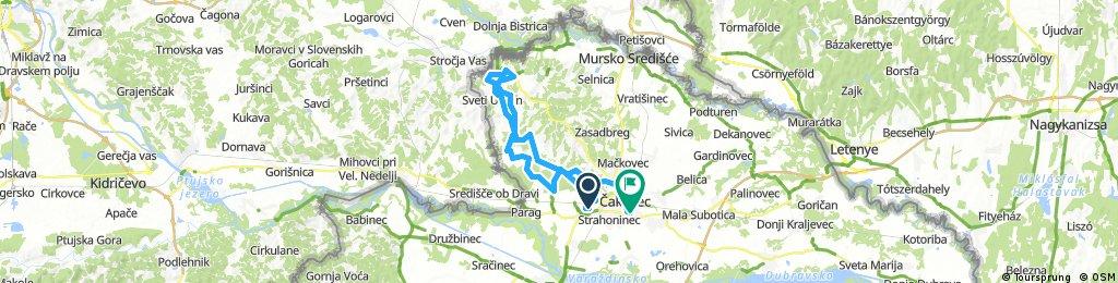 Lengthy ride through Čakovec pana