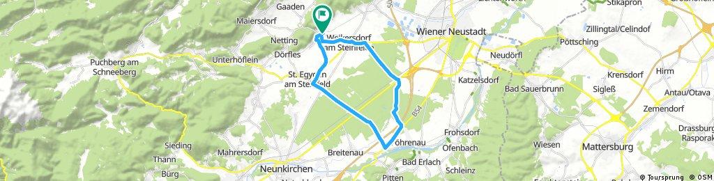 Radrunde durch Gemeinde Winzendorf-Muthmannsdorf