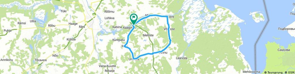 224 route - Lengthy bike tour through Mäksa vald
