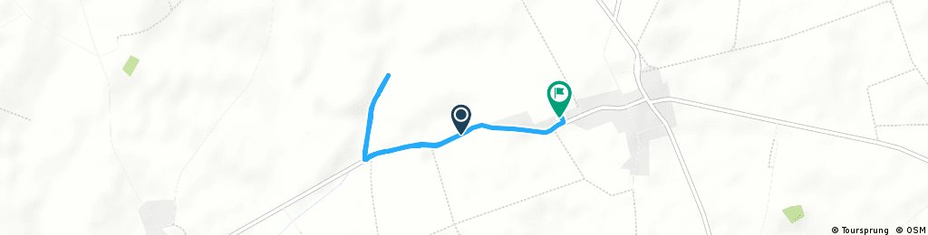 route bij wp marius + 0,8 km