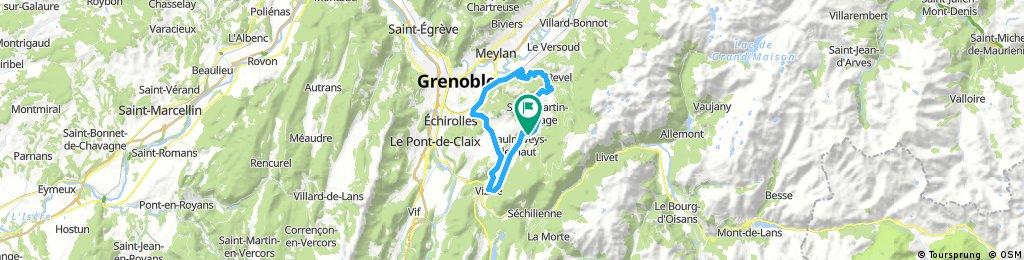 Long ride through Vaulnaveys-le-Haut