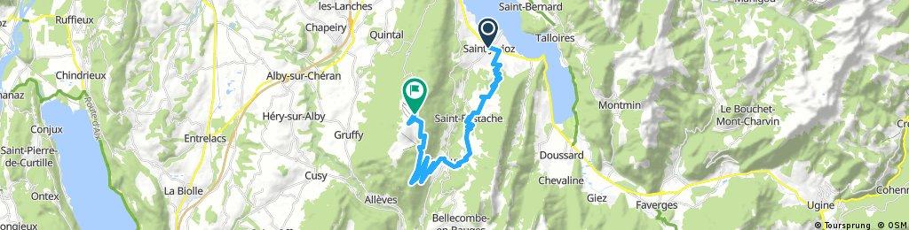 Saint-Jorioz to Col du Semnoz