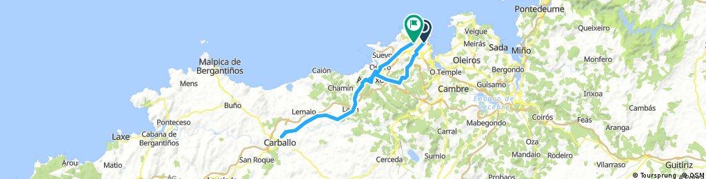 Coruña-Feans-Arteixo-Carballo-Pastoriza-Coruña