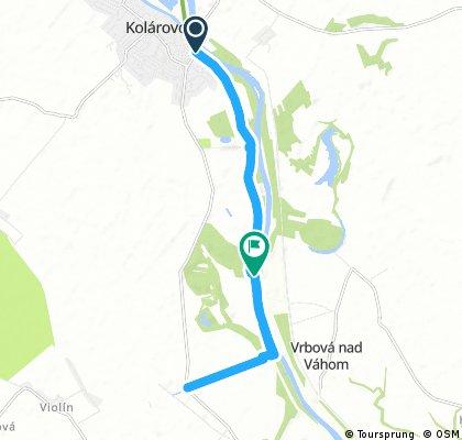 14km Brigettio time trial training route
