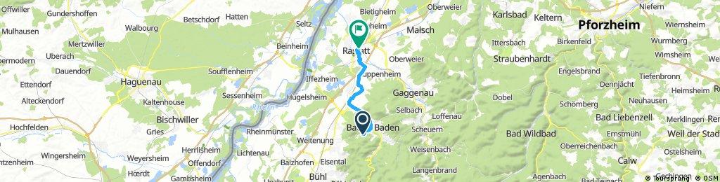 SWR Baden-Baden nach Rastatt Bahnof