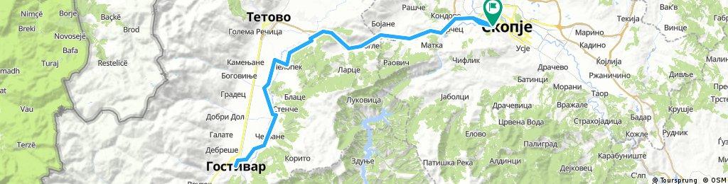 Скопје - Гостивар и назад