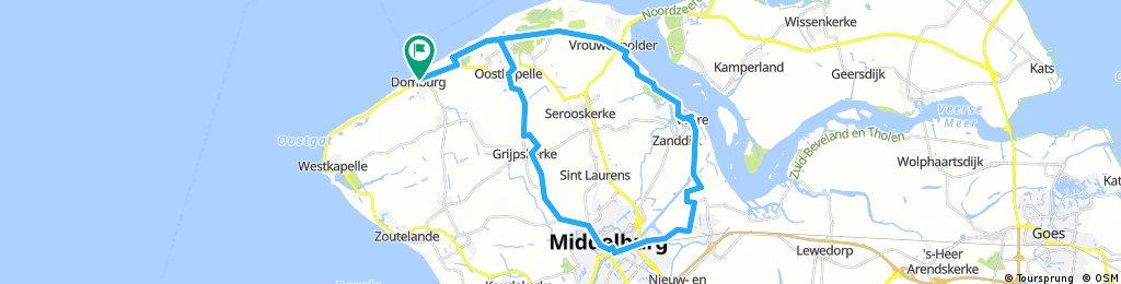 Domburg - Veere - Middelburg - Domburg CLONED FROM ROUTE 668790