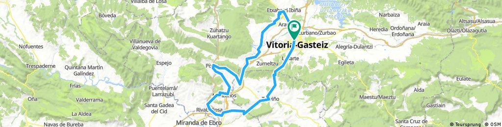 Vitoria-Abetxuko-Mendiguren-Foronda-Nanclares-La Puebla-Tuyo-Anuzita-Manzanos-Melledes-RIVABELLOSA-Ribaguda-Trebiño-Pto Zaldiaran-Vitoria
