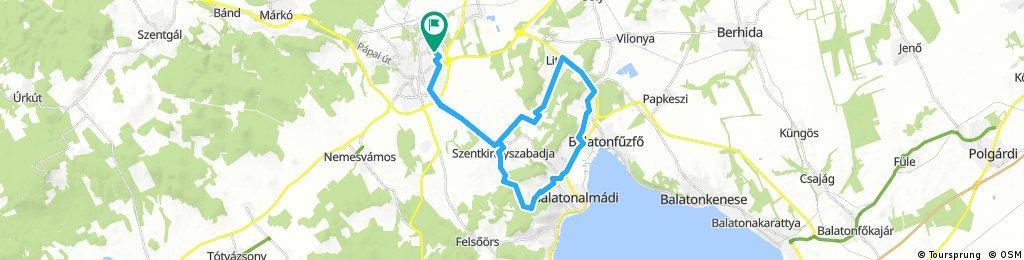 Veszprém-Litér-B.almádi-Veszprém