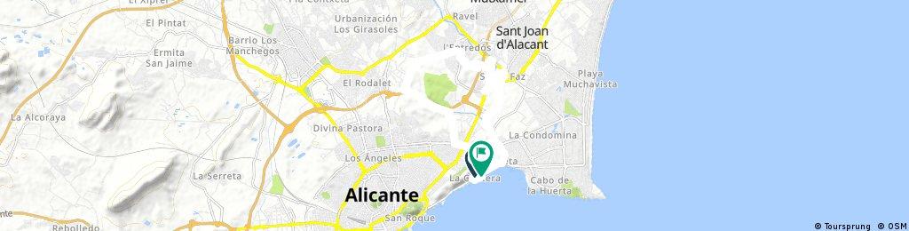 ride through Alacant