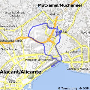 Cycling routes and bike maps in and around Alicante Bikemap Your
