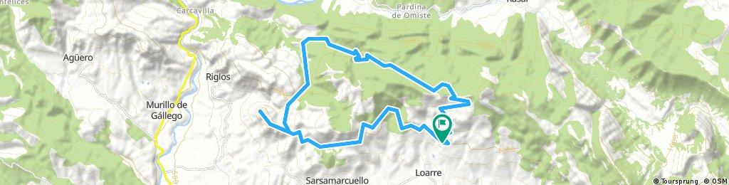 Castillo de Loarre - Mirador de los buitres - Fuenfría - Castillo de Loarre