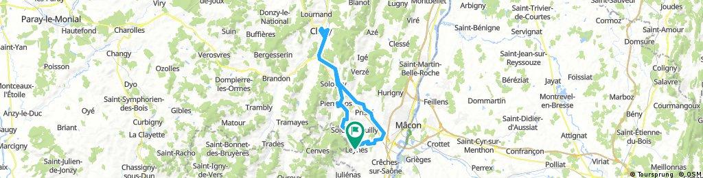 62 km Leynes  - Cluny