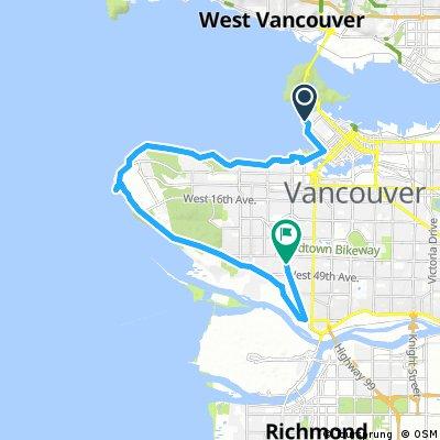ride through Vancouver
