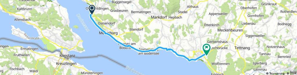 Unteruhldingen - Friedrichshafen 26 KM