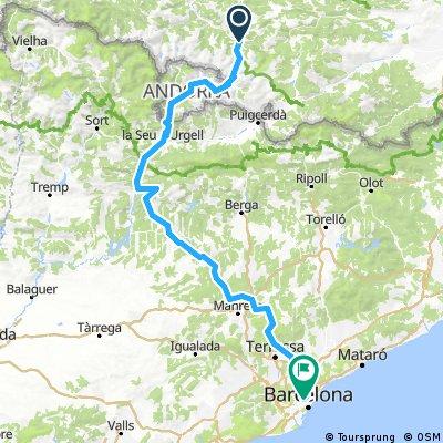 Pyrénées- Andorre- Espagne- Barcelone