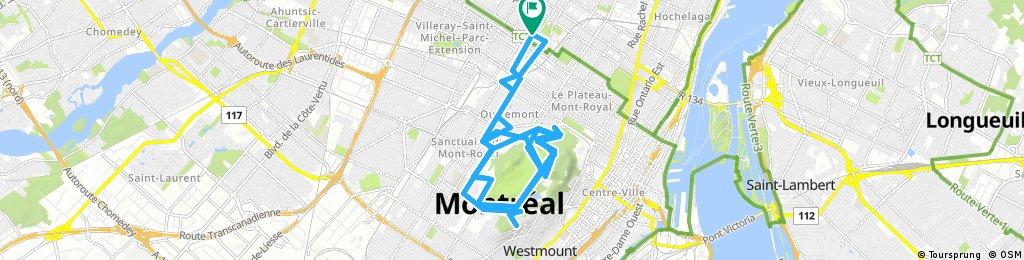 Long ride through Montreal city