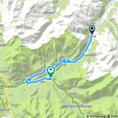 trek 2017/3, 1.etapa Glaris - Filisur