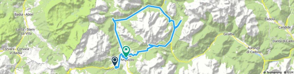 Long bike tour through Cortina d'Ampezzo