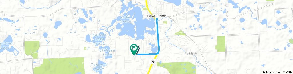 Brief bike tour through Orion