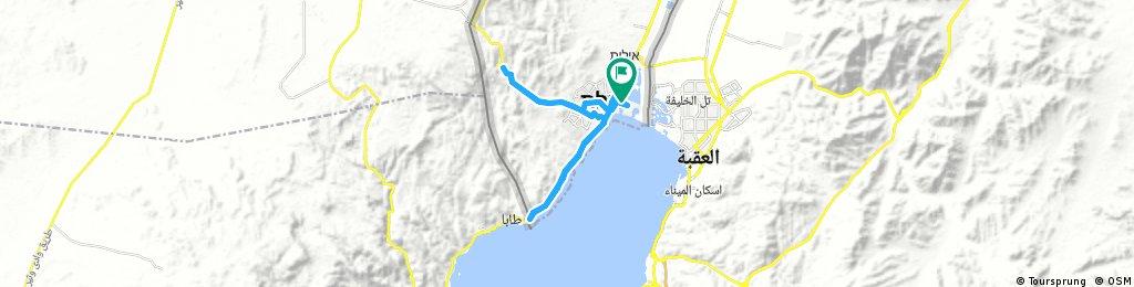 Lengthy bike tour through Eilat