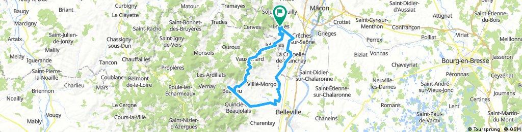 63 km Leynes - Beaujeu - Leynes
