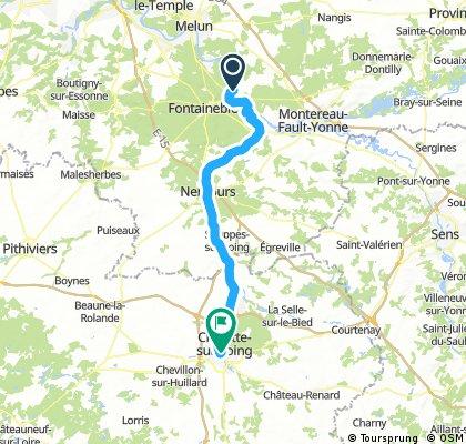 Fontainebleau - Montargis via EV3