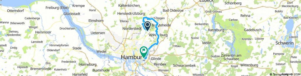 U Bahn Ohlstedt Kayhude Ahrensburg Höltigbaum Rahlstedt nach Billstedt