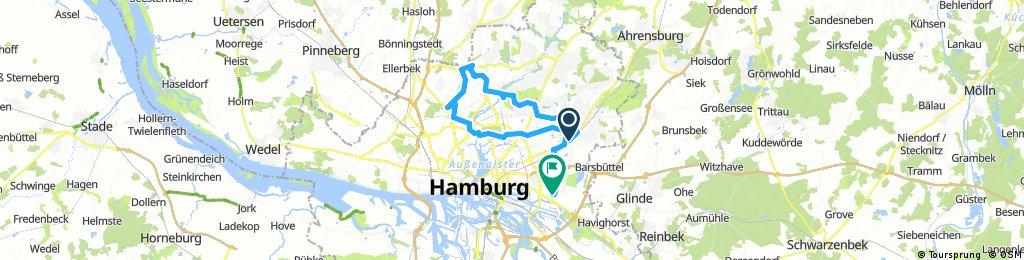 S Bahn Tonndorf Farmsen Ohlsdorf um den Flughafen herum nach Barmbek Tonndorf und Billstedt