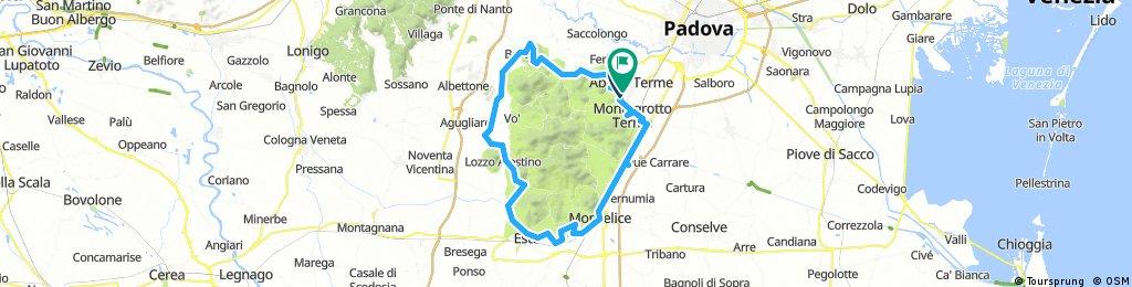 Lange Radrunde durch Abano Terme