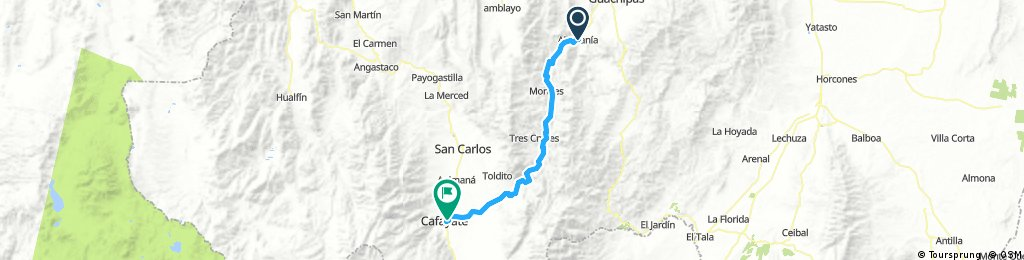 Lengthy ride through Loro Huasi