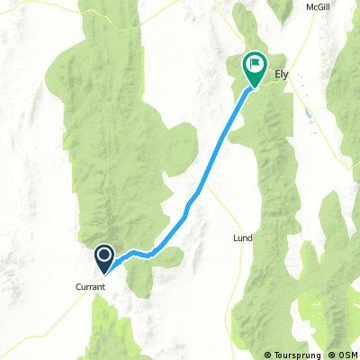Currant to Ward Mountain Summit Nevada