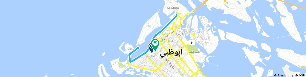 bike tour through Abu Dhabi