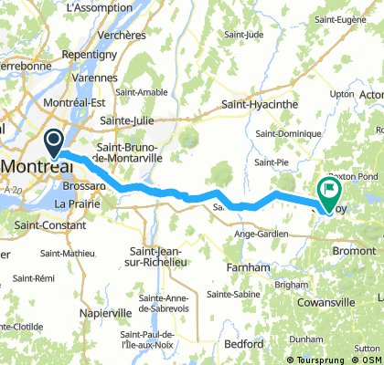 Montreal to Granby