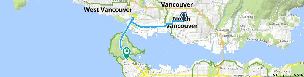 Brief ride through Vancouver