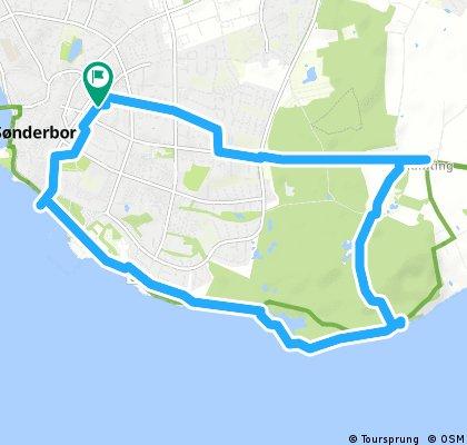 ride through Sønderborg