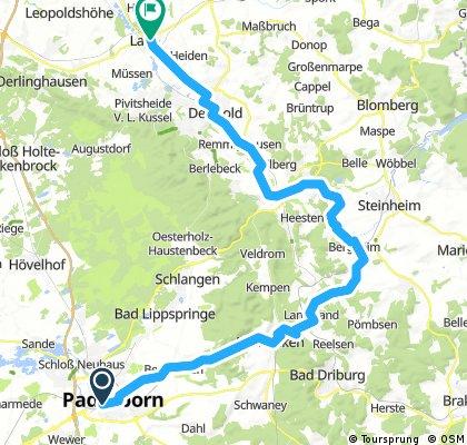 Von Paderborn übers Eggegebirge nach Lage