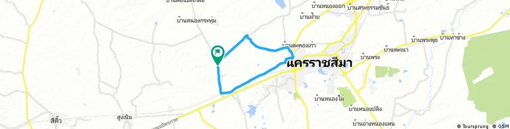 ride through Ban Nong Krathum